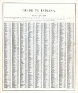 Indiana - Guide 1, United States 1885 Atlas of Central and Midwestern States